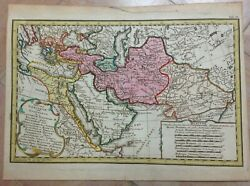 Middle East Greek Empire 1742 By Hase And Homann Hrs Nice Antique Map 18e Century