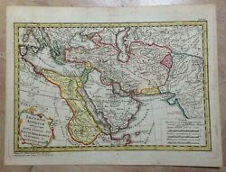 Middle East Empire Of Assyrians Dated 1742 Hase And Homann Hrs Nice Antique Map
