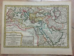 Middle East Ottoman Empire 1742 By Hase -homann Hrs Nice Antique Map 18e Century