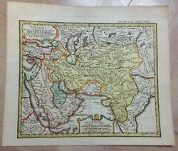 Middle East Arabic Empire 1742 Hase-homann Hrs Nice Antique Map 18e Century