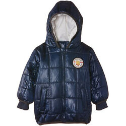 Disney Boysand039 Winnie The Pooh Padded Coat With Hood Blue Puffer Jacket 6 Months