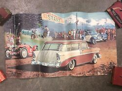 1956 Chevy Bel Air Station Wagon Pikes Peak Hill Climb Frable Art William Sims