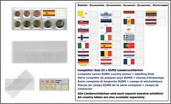 100 Look 1-k7es-spa Coin Pockets Cases Euro-course-coins-sets + Spain Flags