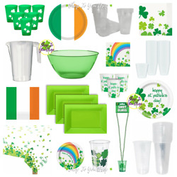 St. Patricks Day Party Tableware Irish Bowls Plates Cups Tablecloth Shot Glass☘️