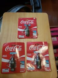 Lot Of 3 Vintage Coca Cola Bottle Keychain 1999 Watch Thecoke Disappear 441-0
