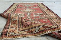 Antique Handmade Vintage Azerbaijan Caucasian Derbent Carpet Area Rug7and0399and039and039x3and03910