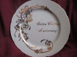 Lefton Collectors Golden Anniversary With Hand Painted Gold Trim Plate 04188