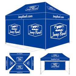 Pop Up Marquee Canopy 10x15 Custom Logo Printed Fair Party Tent W/full Walls