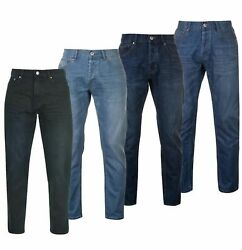 Mens Firetrap Straight Denim Classic Casual Rom Jeans Sizes Waist From 30 To 40