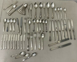 Lot Of 61 Pieces Of Various Vintage Silver Plate Flatware, Mark Hopkins, Fosters