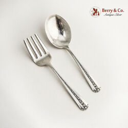 Rambler Rose Two Piece Baby Set Towle Sterling Silver Pat 1937