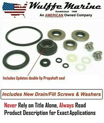 Lower Unit Gearcase Seal Kit For Johnson Evinrude 9.9 15 Hp Rplcs 396350 18-2656