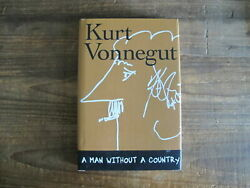Kurt Vonnegut A Man Without A Country 2005 Signed And Original Drawing
