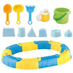 23 Piece Beach Toy Sand Castle Set With Molds Tools Bucket Shovel And More New $24.95
