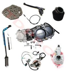 Lifan 125cc Engine Motor Kit + Full Wiring + Carb+ Exhaust Pipe For Ssr Sdg Baja