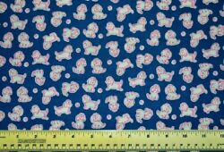 Riley Blake Strawberry Biscuit Blue puppies By the 1 2 yd 100% cotton fabric