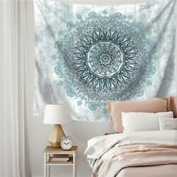 Psychedelic Mandala Tapestry Wall Bohemian Wall Decor 59in x 79in Blue