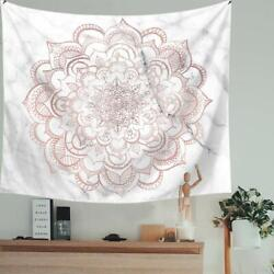 Psychedelic Mandala Tapestry Wall Bohemian Wall Decor 59in x 79in Pink
