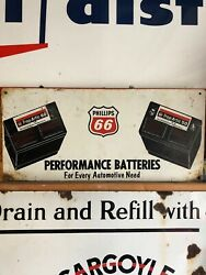 Original Phillips 66 Heavy Steel Rack Top Not Porcelain Sign Gas Oil Collectable