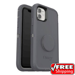New Otterbox Otter + Pop Defender Series Popsockets Case Grey Iphone 11 Only