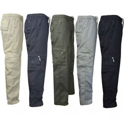 Men Cargo Work Trouser Army Military Combat Hiking Pockets Tactical Casual Pants