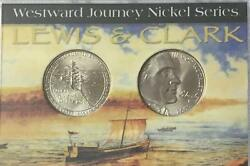 Lewis And Clark 2 Coins Nickels Gem Beauties In A Display Case 206