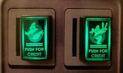 2 Arcade1up Led Coin Buttons With Custom Usb Power Cord And Switch Wires Ghost B.