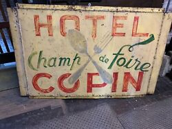 Antique French Hotel Trade Sign France Lodging Tourist Rooms