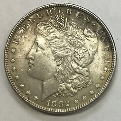 1882-p Vam Spiked 2  Morgan Dollar  L@@k At Pictures  1593