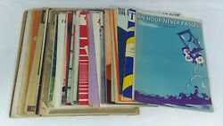 Antique Sheet Music, Lot Of 75 Pieces 1898-1947 Wwi, Wwii, Black Americana, Folk