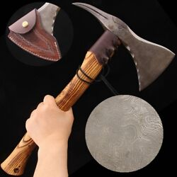 Bird Head Axe Traditional Hatchet Traditional Hand Forged Damascus Steel 0438