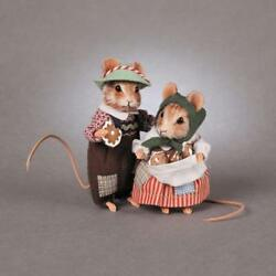 R. John Wright Hansel And Gretel Fairy Tale Mouse Collectible Doll Handmade Usa