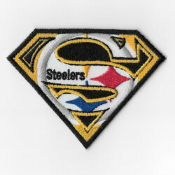 Pittsburgh Steelers V Iron On Patches Embroidered Patch Applique Badge Emblem