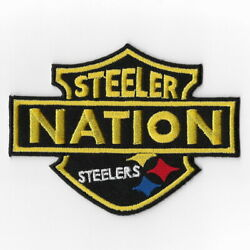 Pittsburgh Steelers X Iron On Patches Embroidered Patch Applique Badge Emblem