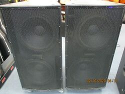 Eaw La128 18 Subwoofers Speakers Pair W/covers And Casters And 50ft Cables
