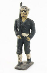 Grey Iron Sailor Marching With Rifle - Lead Toy Soldier