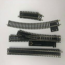Ho Scale Atlas Right And Left Hand Switch Turnout Terminal Straight Snap Track Lot