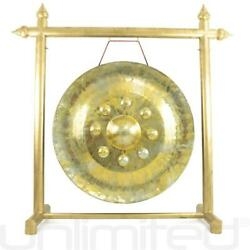32 Buddha's Heart Thai Gong On Gold Gong Stand - Free Shipping