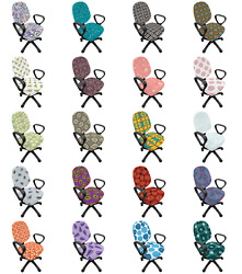 Ambesonne Abstract Graphic Office Chair Slipcover Protective Stretch Cover