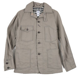 New 495 Post Overalls Flannel-lined Canvas Engineerand039s Jacket S Oand039alls