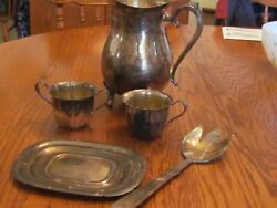 Lot Of 5 Silver And Silver Plated, Wm. Rogers, International Silver And Reed Barton
