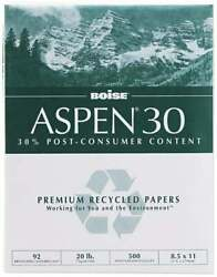 Boise 8-1/2 X 11 White Copy Paper Use With Laser Printers High-speed Copie...