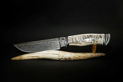 Exclusive Mosaic Damascus 20000 Layers Author's Knife Siberia