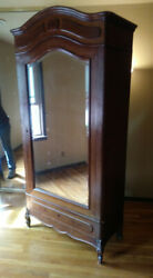 1920's Tall, Vintage Armoire Wardrobe Or Shelves, Great Condition