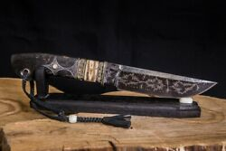 Exclusive Mosaic Damascus 20000 Layers Authorand039s Knife Tiger