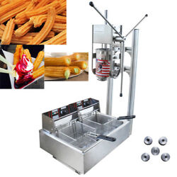 Vertical Manual 3l Churrera Churros Spainish Donuts Machine With 12l Fryer