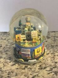 '99 Bloomingdales 1st Year Nyc Broadway Time Square Twin Towers Snow Globe