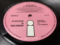king Crimson in The Court of The Crimson king Vinyl Record Pink Island TOP AUDIO