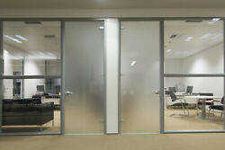Privacy White Frosted Window Film Frost Glass Sticky