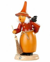 German Incense Smoker Witch With Raven And Fly Agaric, Height 25 .. Mu 16649 New